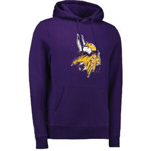 NFL Hoody Minnesota Vikings Splatter Hoodie Hooded Pullover Hooded Sweater