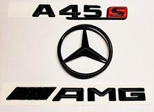 MERCEDES A-CLASS W177 GLOSS BLACK AMG+A45s+STAR BADGE 2019+