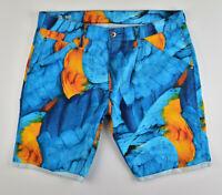 G-STAR RAW, 5622 3D Tapered Shorts 1/2 Mandarin Blau, Gr. W34 Bermuda Jeans Cut