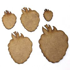 Raspberry Craft Shape, Various Sizes, 2mm MDF Wood. Fruit