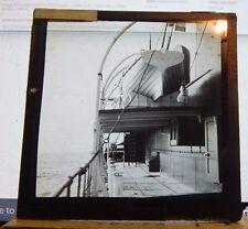 Antique Glass slide Merchant Ship S.S Brunswick Life Boats 1930's