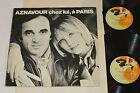 CHARLES AZNAVOUR Chez Lui, a Paris 2-LP Barclay Records Canada Vinyl 85004 VG/VG