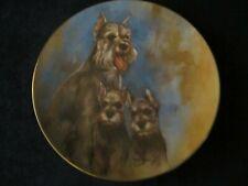 SCHNAUZERS collector plate LEO JANSEN dog MY FAVORITE PETS - RARE
