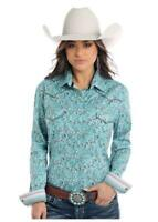 Panhandle Slim Women's Turquoise Paisley Snap Up Western Shirt R4X2133 R4S2133