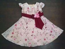 Bonnie Jean 2T Christmas Party Dress Gold Red Sequins Sparkly Petticoat Sash