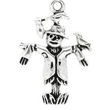 20 Tibetan Silver Scarecrow Pendant Charms Halloween Gothic