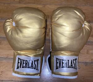 12 Oz Everlast Boxing Gloves, Look Gold, Golden Color edition