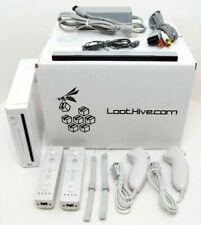 2-REMOTE Nintendo Wii System Bundle Set RVL-001 Console WHITE video game OG USA
