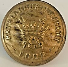 Vintage Oddfellows Brass Button Patriarchs Militant IOOF Fraternal Order 23mm