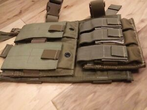 Heavy Duty USA Drop Leg Rifle and Pistol Magazine Pouch MOLLE Panel Holster