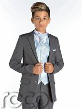Boys Grey Suit, Boys Slim Fit Suit, Boys Prom Suit, Boys Wedding Suit