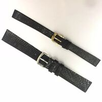 VINTAGE Old Stock 12mm & 18mm Genuine Lizard Watch Strap Real Leather