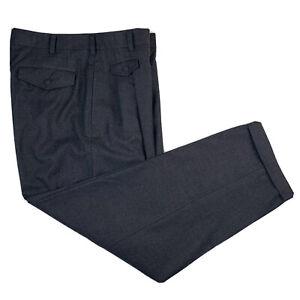 VTG 32 / M COMME des GARCONS Grey Boiled Wool Pleat Front Pegged Hem Made Japan