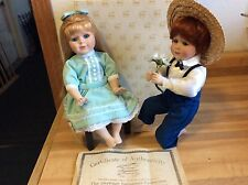 Courting Couple Porcelain Dolls Heritage Signature Collection 12357
