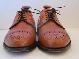 Men's Allen Edmonds Sanford Walnut Cap Toe Oxfords Size 9.5 D