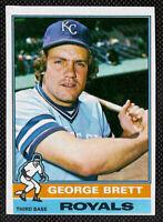 1976 Topps Baseball #19 George Brett, Kansas City Royals 2 Yr. Card. Ex/NM. HOF