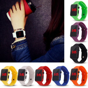 Mans Women Kids Waterproof Digital Wristwatch Sports LED Display Watch Simple