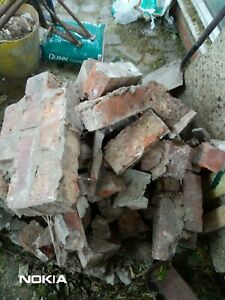 Broken reclaimed old bricks to use as hard core rubble free delivery MANCHESTER