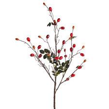 Artificial Rose Hip Spray - 90cm - Winter Autumn Decoration