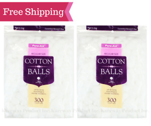 Pure-Aid Cotton Ball, Small-300ct, 2pk