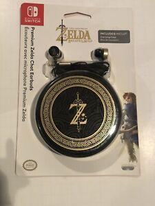 New Nintendo Switch Premium Zelda Breath of the Wild Chat Earbuds NIP Free Ship