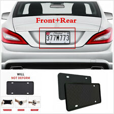 2X Universal Silicone Rubber Car US License Plate Frame Cover Front & Rear Kit