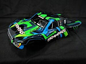 NEW Traxxas Slash 4x4 Ultimate Green Blue Black Painted Body Shell 2wd
