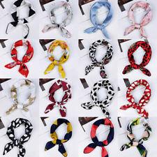 Women Elegant Square Scarf Bandana Neckerchief Head Neck Wrap Hair Tie Scarves