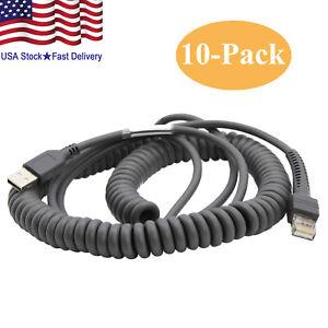 Lot 10 USB Cable 15ft for Symbol Barcode Scanner ls2208 ls4208 CBA-U09-C15ZAR