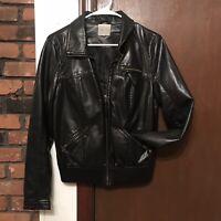 Silence + Noise Vegan Leather Jacket Women Medium Black