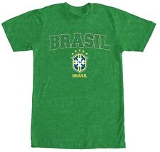 Brasil Brazil Team Green / Yellow Logo T Shirt Soccer Futbol Men's Medium M
