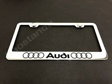 1x Audi-LL STAINLESS STEEL LICENSE PLATE FRAME + Screw Caps (Style L)