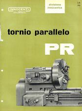 Depliant Brochure Innocenti Tornio Parallelo PR 1960 ORIGINALE