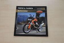 167626) Moto Guzzi - Modellprogramm Preise & Farben - Prospekt 06/2011