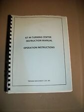 Toyoda GT 44 Turning Center Instruction Operation Manual