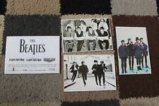 """More details for beatles 6x4"""" postcards set x3 rare limited numbered help! hard days night 1995"""