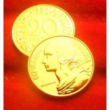 20 CENTIMES SEMEUSE 1980  OR PL 24 k 999%  edition limitée garantie authentique