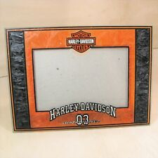 "Harley-Davidson Motorcycles 03 Picture Frame Photo Art Glass 4"" X 6"""