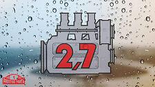 Porsche 911 2.7 engine window sticker - Retro 2.2 style rear screen decal