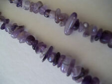Vintage Necklace Purple Amethyst ROCK STONE Polished Bead with Quartz
