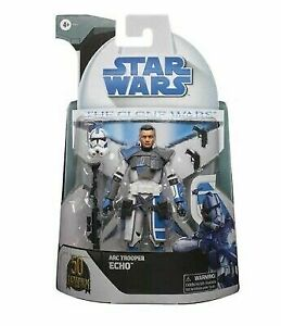 "Arc Trooper Echo, Star Wars The Clone Wars, 6"", Black Series, Target Exclu.06/21"