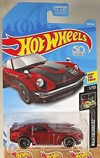 2018 Hot Wheels #140 Nightburnerz 1/10 CUSTOM DATSUN 240Z Maroon w/Black St8 Sp