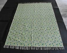 Hand Woven Green Persian Kilim Area Rug Best Floral Designer Rugs Size 4x6 Feet