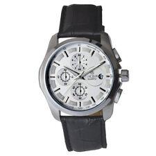 Lässige polierte Armbanduhren mit Armband aus echtem Leder für Herren