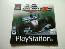 SONY PLAYSTATION 1 / Notice Instruction / Formula 1 98 [ Version PAL ]