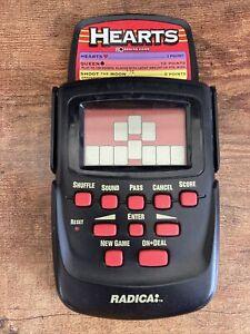 VINTAGE RADICA HEARTS HANDHELD ELECTRONIC GAME MODEL 3661CS5BA NEW BATTERY!