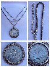 Kette 925er Silber mit  835er Silber Münzanhänger Nederland 1962 Silberschmuck