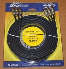 AV Link Component Cables, DV6002 - 9.84 ft, Brand NEW