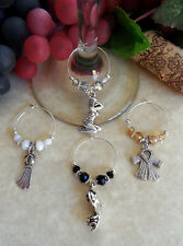 4 Wine Glass Charms ~ 55 Years ago MARILYN Was The Ultimate Pin-up Girl