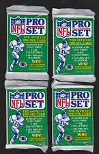 (4) UNOPENED MINT PACKS 1990 PRO SET 14 PHOTO, 1 NFL COLLECTIBLE, 1 PLAYBOOK